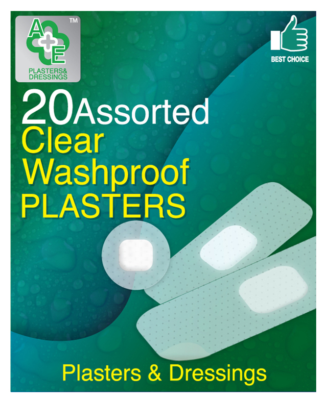 A & E Plasters Clear 20's
