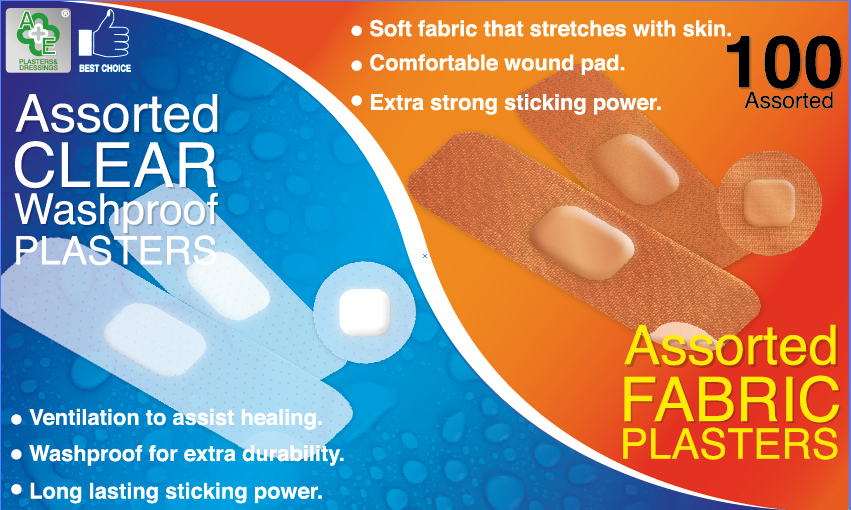 A & E Plasters 100's Assorted