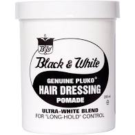 Black and White Hair Dressing 7oz 200ml Original Pomade