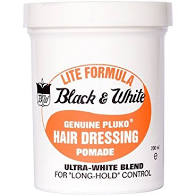 Black and White Hair Dressing 7oz 200ml Lite Pomade