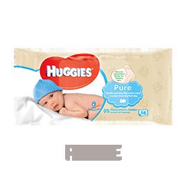 Huggies Pure Wipes 56s