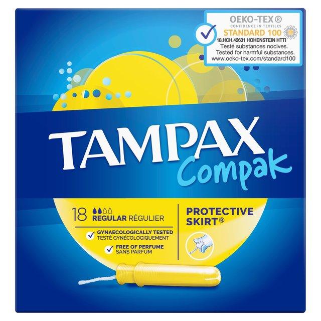 Tampax Compak 18's Regular