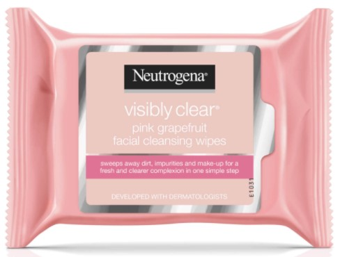 Neutrogena Visibly Clear Pink Grapefruit Face Wipes 25's