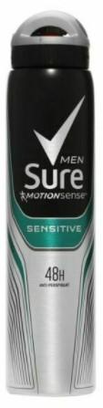 Sure Spray 250ml Men's Sensitive